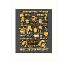 Alien Statistics Art Print