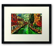 Venice Canals Fine Art Print Framed Print