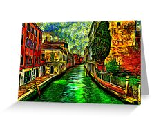 Venice Canals Fine Art Print Greeting Card