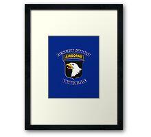 101st Airborne Desert Storm Veteran - iPad Case Framed Print