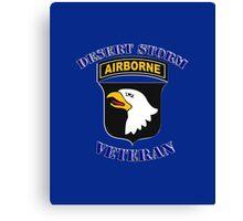 101st Airborne Desert Storm Veteran - iPad Case Canvas Print