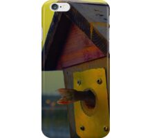 A fishtail coming out from a birdhouse entrance iPhone Case/Skin