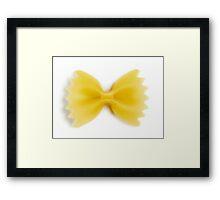 Bow Tie Noodle Framed Print