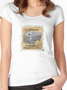 Volkswagen tee shirt - Late Bay stamp Women's Fitted Scoop T-Shirt