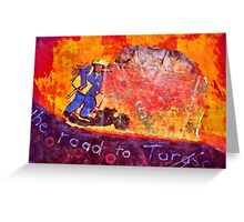 Vincent at Ayers Rock ( Homage to Vincent ) Greeting Card