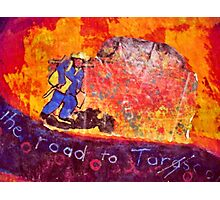 Vincent at Ayers Rock ( Homage to Vincent ) Photographic Print