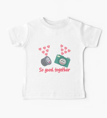 kawaii Camera and Lens love design Baby Tee