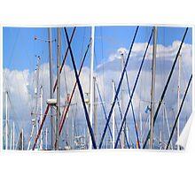 Masts - Shorncliffe Marina Poster