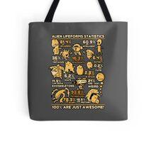 Alien Statistics Tote Bag