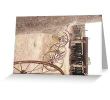 Hubbel Trading Post Corral. Greeting Card