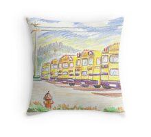 School Bussiness Throw Pillow