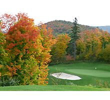 Autumn golf Photographic Print