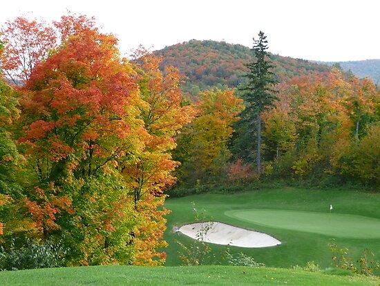 Autumn golf by Rachel Gagne