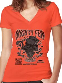 Mighty Few Women's Fitted V-Neck T-Shirt