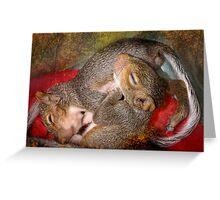 Squirrel Snuggles Greeting Card