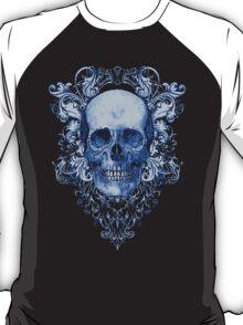 Blue Ornate Skull T-Shirt