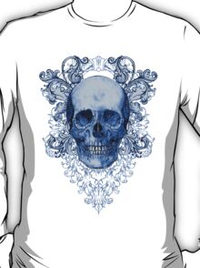 Blue Ornate Skull T-Shirt