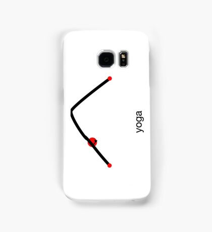 Stick figure of downward dog pose with yoga text. Samsung Galaxy Case/Skin