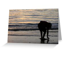 Looking for Shells Greeting Card