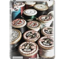 A collection of vintage cotton reels iPad Case/Skin