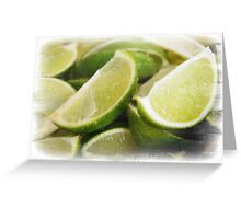Zesty Limes Greeting Card