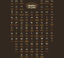 Hobo and Tramps Symbols, American mythology #4. Unisex T-Shirt