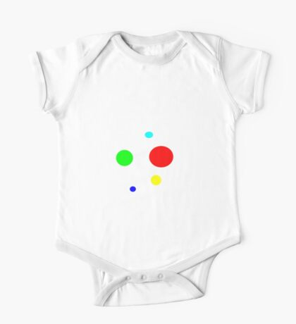 COLOR DOTS abstract One Piece - Short Sleeve