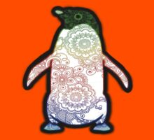 Penguin - Henna Rainbow Tattoo Kids Clothes