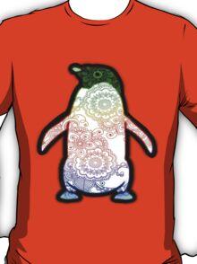 Penguin - Henna Rainbow Tattoo T-Shirt