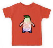 Penguin - Henna Rainbow Tattoo Kids Tee