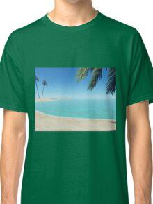 palms on the beach Classic T-Shirt