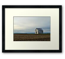 Barn and Field at Sunrise Framed Print