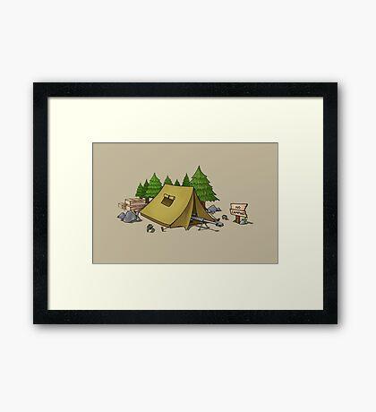 no camping Framed Print