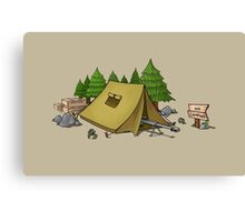 no camping Canvas Print