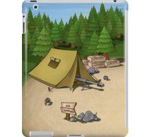 no camping iPad Case/Skin