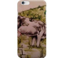 Grazing Cow by Natalie Manifold iPhone Case/Skin