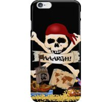 Pirate Icons - Jolly Roger, Treasure Chest, Pirate Ship iPhone Case/Skin