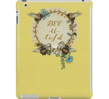 "Bees and Blooms V: Watercolor illustrated honeybee ""Beautiful"" iPad Case/Skin"