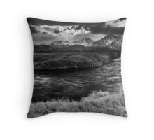 Owens River Storm Throw Pillow