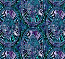 Signature Blues in abstract by Maryma