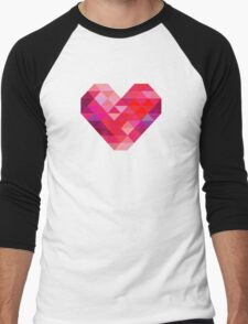 Prism Heart Men's Baseball ¾ T-Shirt