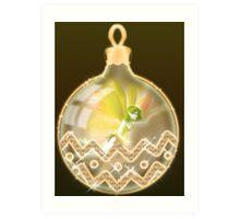 The Christmas Ball Fairy Art Print