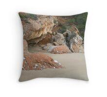 Red Rocks, Psili Ammos, Samos Throw Pillow