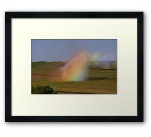 irrigation rainbows  Framed Print