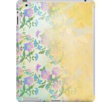 Bees and Blooms VI: Watercolor illustrated bee and flower print iPad Case/Skin
