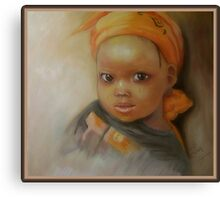 Portrait of African girl Canvas Print