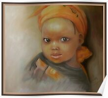 Portrait of African girl Poster