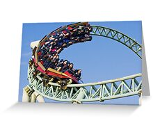 Colouss - Out Of a Loop - Thorpe Park Greeting Card