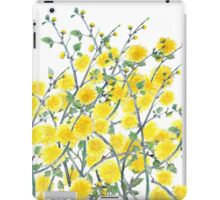 Cute vintage yellow green floral painting pattern  iPad Case/Skin