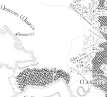 Throne of Glass - Map of Erilea Sticker